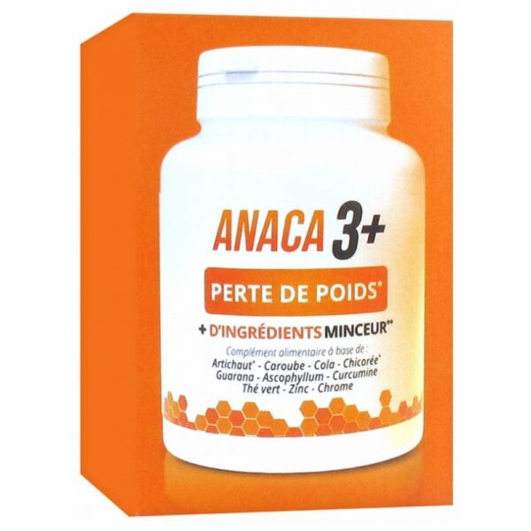 Anaca3 + Weight Loss 120 Capsules is a food supplement in form of capsules, based on plants, turmeric and minerals.