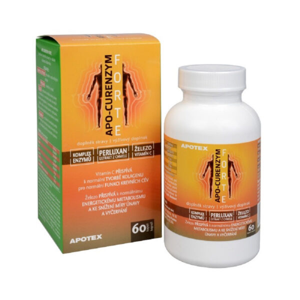 Apo-Curenzyme FORTE is an enzymatic preparation created by experienced professionals. It contains a complex of non-animal enzymes, hop extract PERLUXAN, iron and vitamin C.