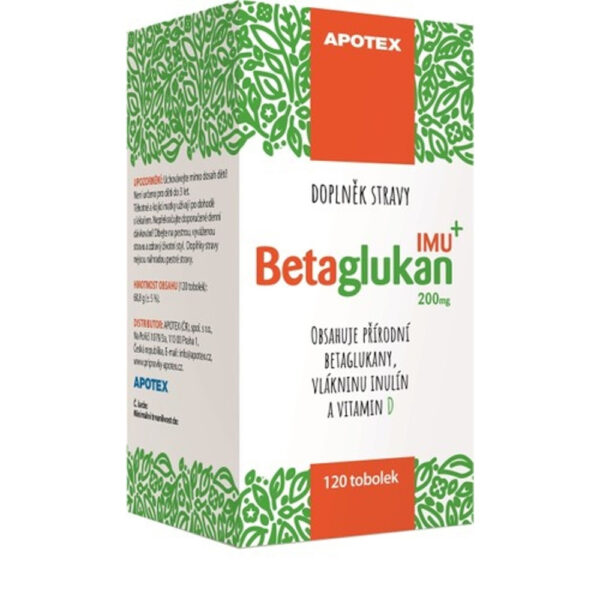 Betaglucan IMU is a dietary supplement containing Vitamin D, which contributes to the normal function of the immune system.