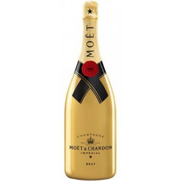 2x Moet & Chandon Imperial Brut Golden 0.75l + Stopper (free) - Harmonic mixture of Pinot Noir