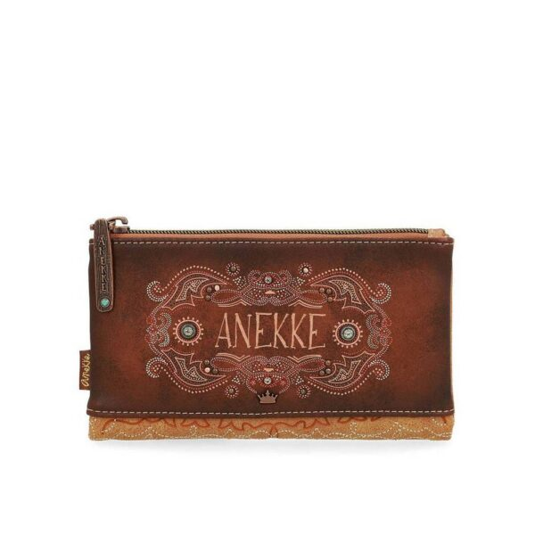 Anekke Arizona is a large purse with two zippers. There is plenty of space in your wallet