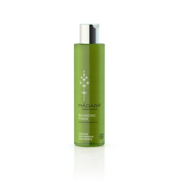 Balancing tonic maintains a balance of oily and dry areas of the face.