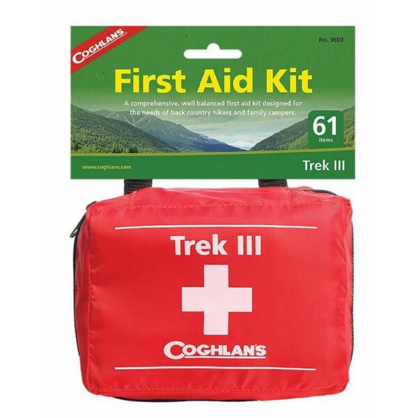 The Coghlan´s Trek III First Aid Kit is an extensive well-equipped pharmacy for providing first aid during longer expeditions and family holidays.