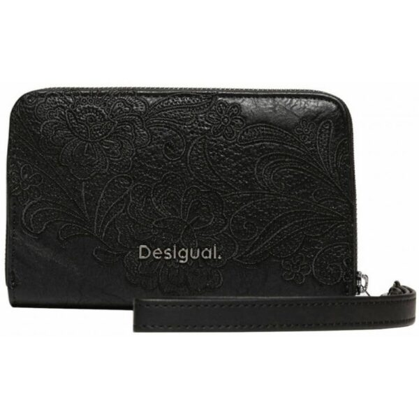 Desigual Mone Melody Mini zip with embroidery. It fits perfectly into a smaller handbag.