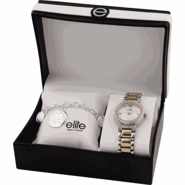 A set of women's watches and bracelets Elite Models E53684-312 in a gift box. Perfect for beautiful ladies.
