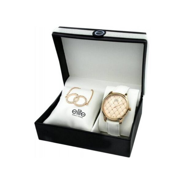 A set of women's watches and bracelets Elite Models E54432G-812. Consists of watch and bracelet.