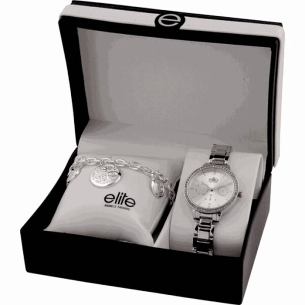 A set of women's watches and bracelets Elite Models E54874-204 in a gift box.