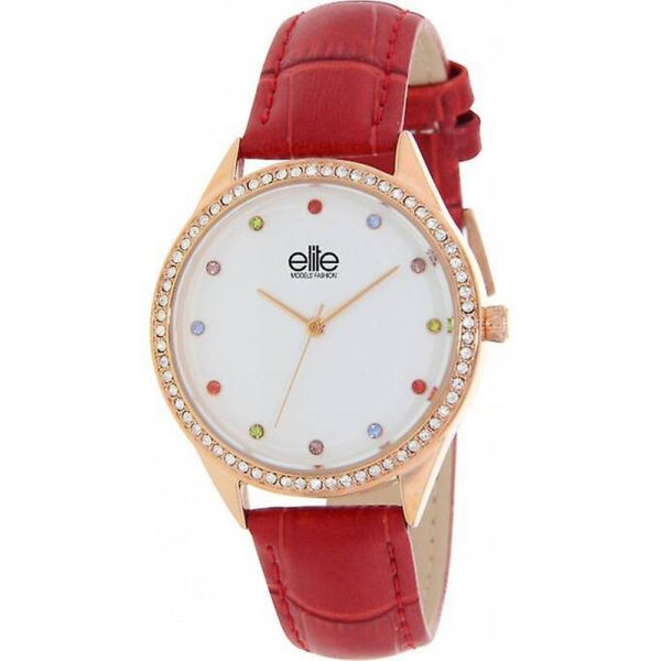 Elite Models Gift Set E55072-809. Consists of a watch with a red strap and bracelet.