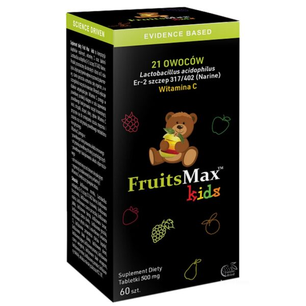 The dietary supplement contains the patented and incredibly effective strain of Lactobacillus acidophilus probiotic bacteria and 21 freeze-dried fruits and vegetables supplementing the diet with valuable vitamin and mineral ingredients