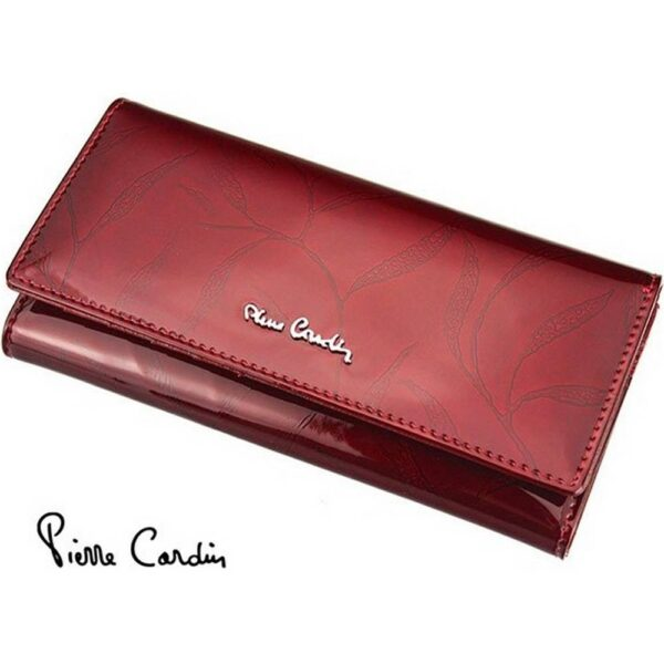 Pierre Cardin's signature women's purse is made of quality natural leather.