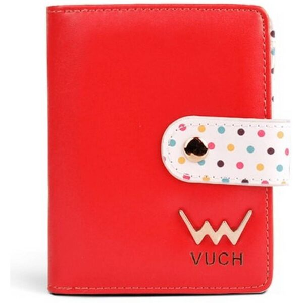 Women's red purse Vuch Poppyna. It can accommodate everything you need and it is beautifully compact and cute.