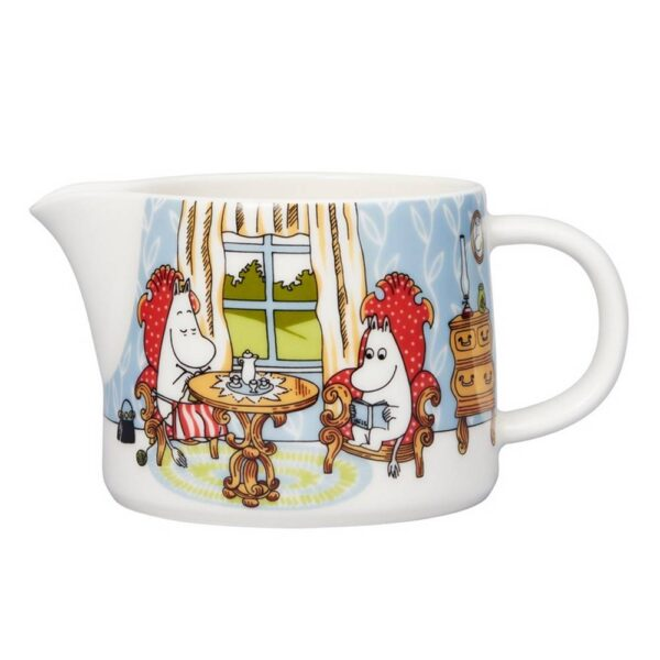 A nice porcelain jug based on stories from a magical valley by the famous Finnish author Tove Jansson.