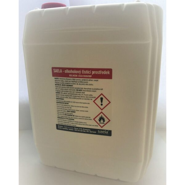 Saela alcohol cleaner is a disinfectant for effective cleaning of surfaces of sanitary facilities, handles of shopping baskets, steering wheels, door handles, tables, chairs.