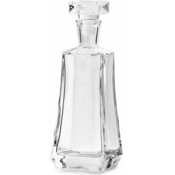 Elegant glass carafe for wine with a glass stopper with a volume of 750 ml.