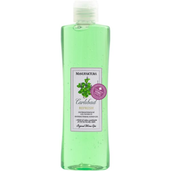 Disinfectant hand gel with increased alcohol content (70%) has antibacterial and especially virucidal effects.