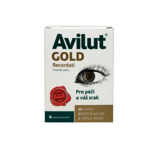 AVILUT® GOLD RECORDATI contains a suitable combination of substances - Lutien + Aescin for the care of your eyesight. Zinc helps maintain normal vision.