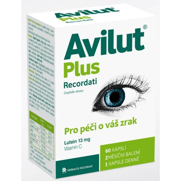 AVILUT® Plus RECORDATI is a dietary supplement with a combination of carotenoids