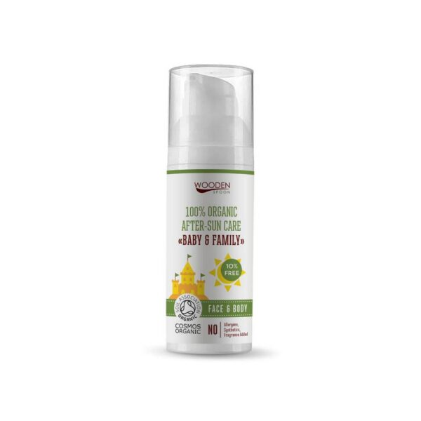 Natural oil after sunbathing for children and adults with sensitive and eczematous skin.
