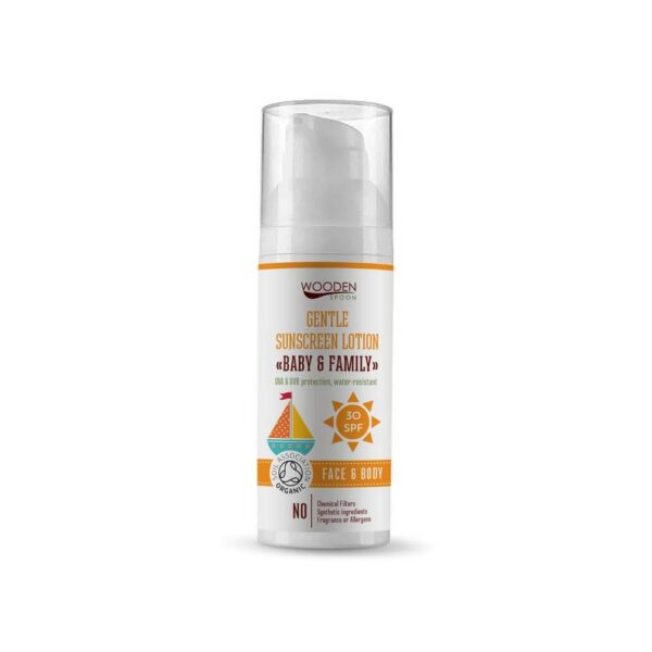 This organic body lotion with Mineral UV filter and SPF 30 protects the skin from sun damage and at the same time pampers it pleasantly thanks to its composition.