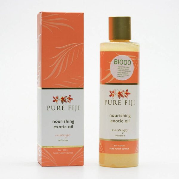 Exotic massage and bath oil with a delicate mango scent take care of the skin and hair of the whole body thanks to the content of nourishing plant oils.