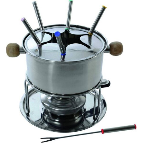Stainless steel fondue