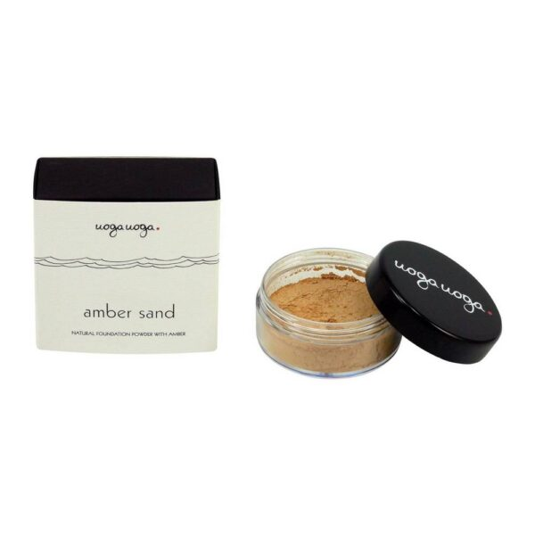 Mineral cosmetics Amber Sand with a yellow tint is most suitable for medium-dark skin types.