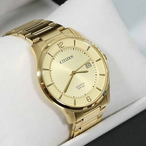 HIGHLIGHT THE WORLD MEN'S WATCH-CITIZEN BD0043 - 83P. Highlight the beauty of its simplicity, muted golden tones and stylish minimalist dial with date pointer.
