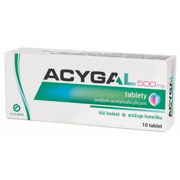 The product containing acetylsalicylic acid relieves pain and reduces fever, in higher doses it has anti-inflammatory effects.