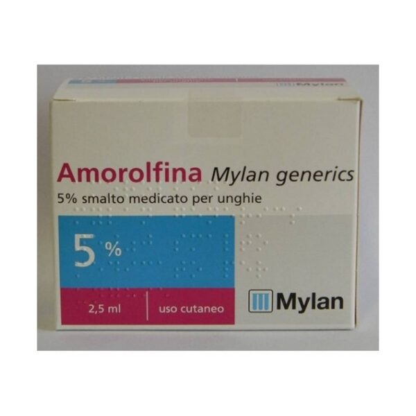 Amorolfina 5% Smalto is used for the treatment of onychomycosis without involvement of the matrix caused by dermatophytes, yeasts and molds.