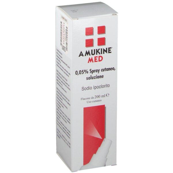 Amukine Med Spray is used in the disinfection and cleaning of injured skin (wounds, sores, burns, etc.); disinfection of the external genitalia.