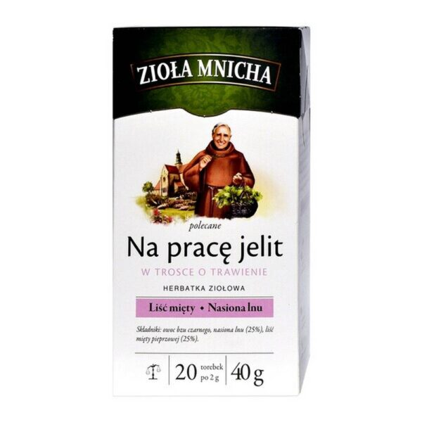 Big-Active Herbs Mnicha for the work of the intestines Herbal tea, in tea bags (20 bags).