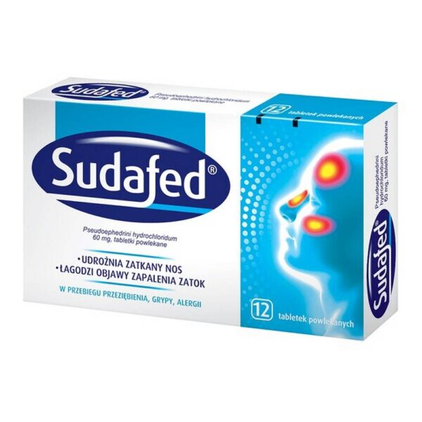 Sudafed is a medicinal product for use in edema, congestion of the nasal mucosa in nasal obstruction and paranasal sinuses. The drug is indicated for the symptomatic treatment of runny nose and stuffy nose.