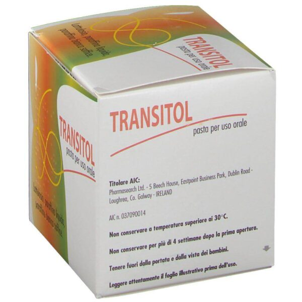 Transitol Pasta is a symptomatic treatment to combat constipation in adults.