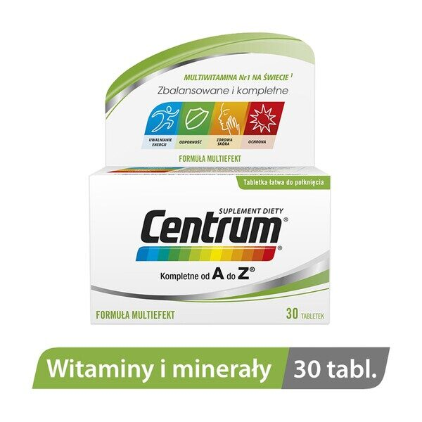 Complete Center from A to Z - a dietary supplement containing the Multiefekt formula and ingredients that support immunity and healthy skin. The product is intended for adults. Women during pregnancy should consult a doctor before using this dietary supplement.