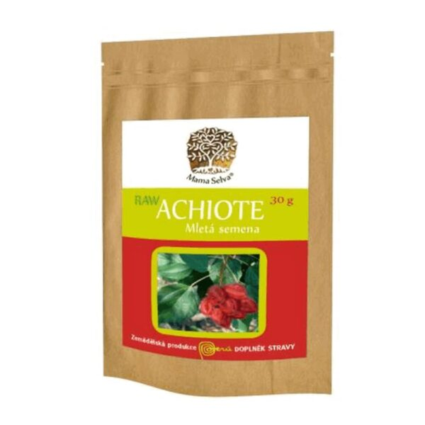Achiote is a tree growing to a height of up to 5 meters. The leaves are oval and pointed. Achiote fruits are thorny, egg-shaped capsules the size of an egg, pointed and longer than wider. Inside the Achiote fruit are bright red small seeds with a diameter of 5 mm