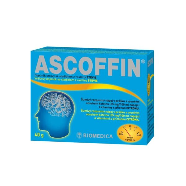 Ascoffin is suitable against fatigue, it helps increase alertness, alertness and attention.