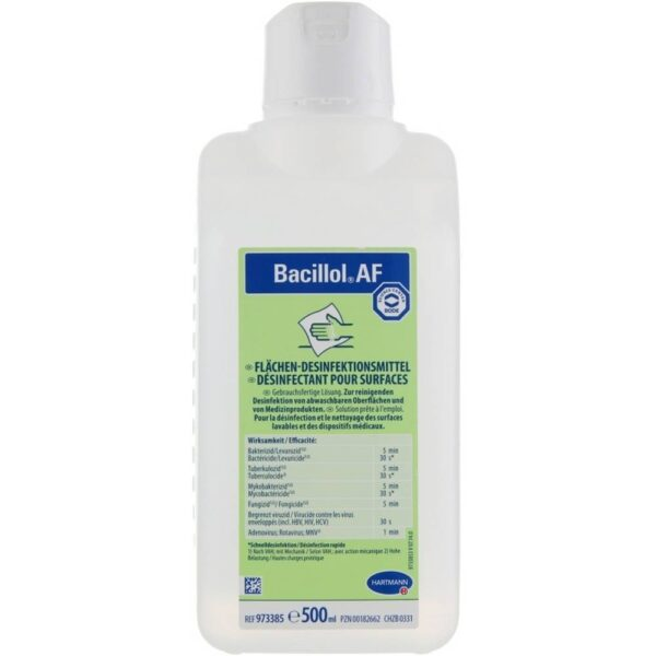Alcoholic Quick disinfectant for disinfecting alcohol-resistant surfaces with a comprehensive, effective and residue-free drying.