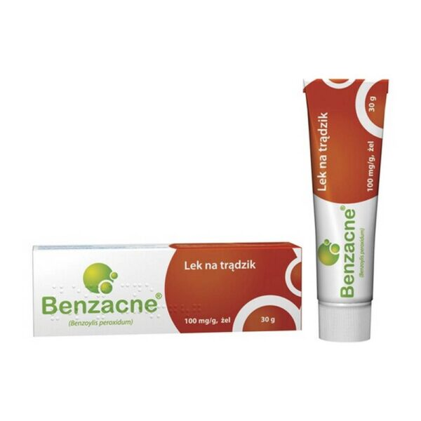 Benzacne in the form of a gel with an anti-acne effect, intended for topical application to the skin.