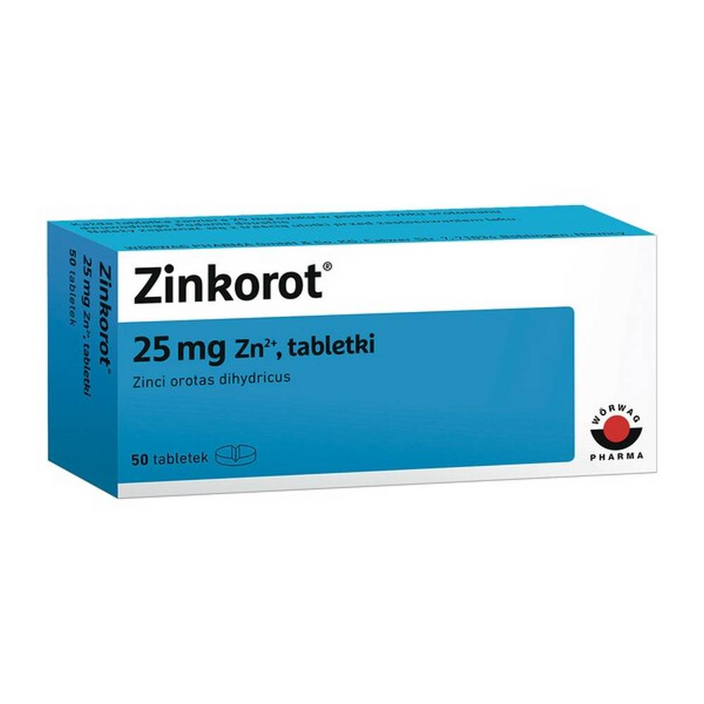 Zinkorot tablets are a drug that replenishes zinc deficiencies. The drug is used when supplementing zinc deficiency with diet is insufficient. Zinkorot can be used in adults and children over 6 years of age.