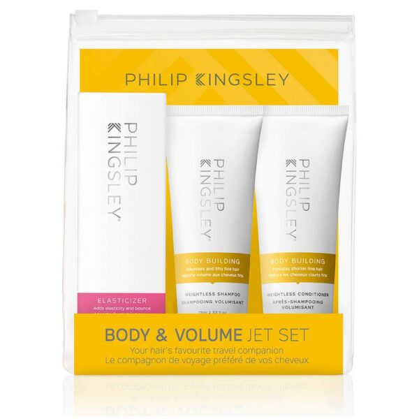 Transform fine, limp hair with this Philip Kingsley Body & Volume Jet Set. Containing three essential Body Building products, this pack will give you maximum body and fullness with gorgeous smoothness and shine.