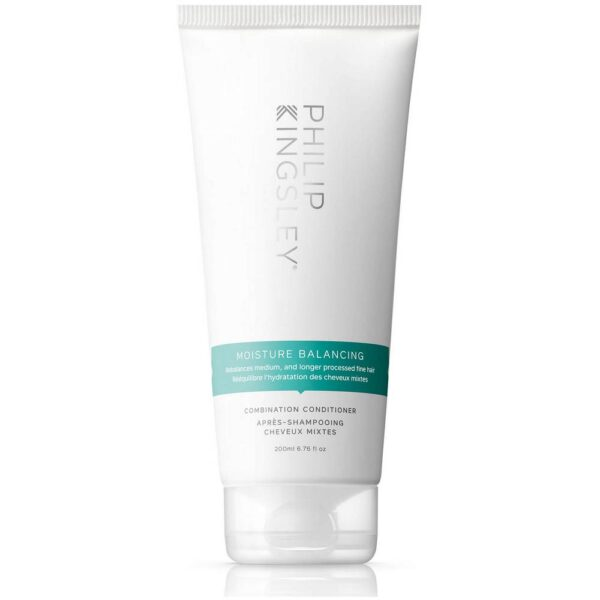 Catering specifically for medium textured hair, which needs slightly more moisture than fine textured hair due to its wider diameter, the Philip Kingsley Moisture Balancing Conditioner helps to restore shine, softness and hydration from root to tip.
