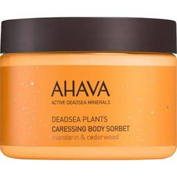 Caressing Body Sorbet by AHAVA pampers the skin with an extra dose of hydration.