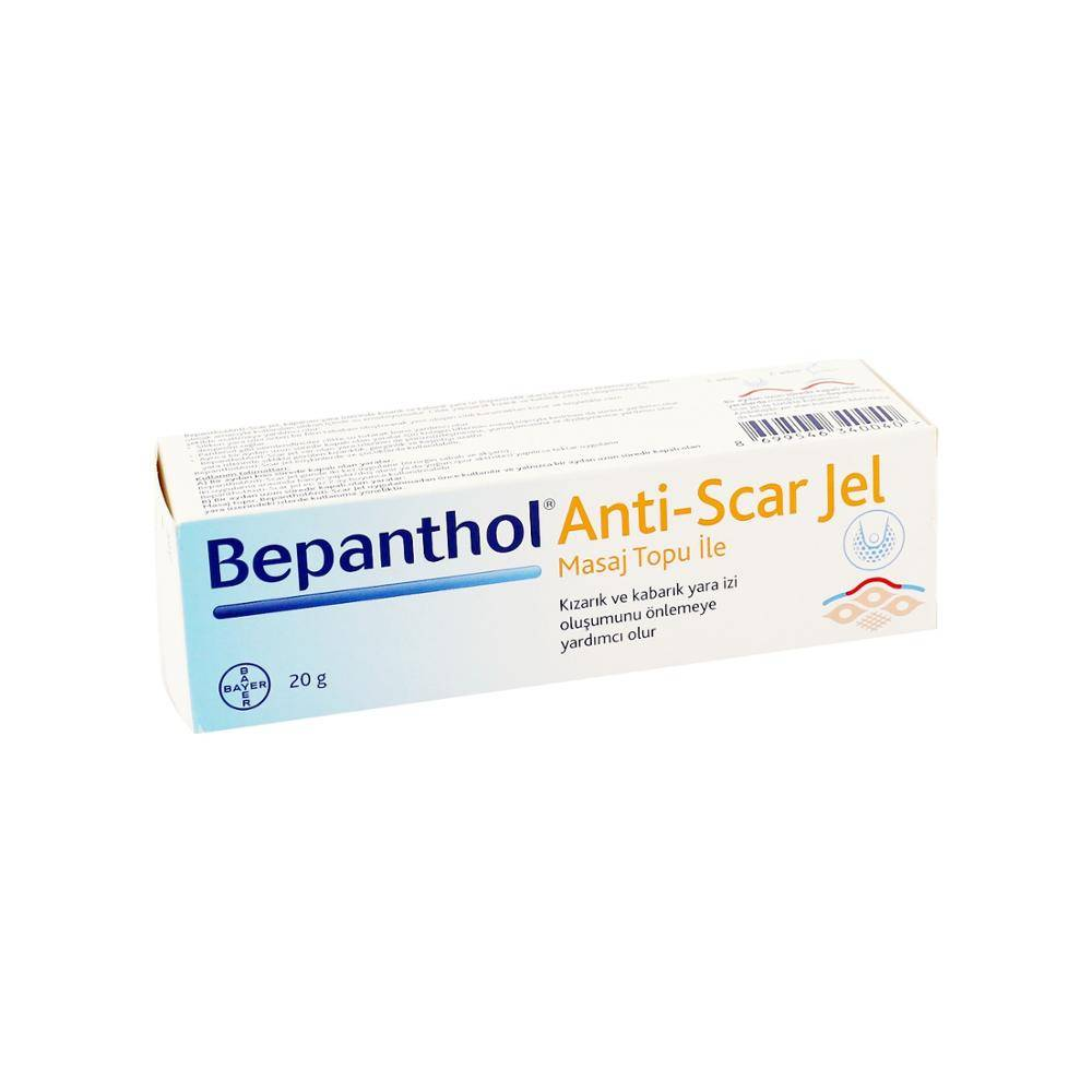 Bepanthol anti-scar gel helps to relieve discomfort by correcting, smoothing and softening the appearance of wounds.