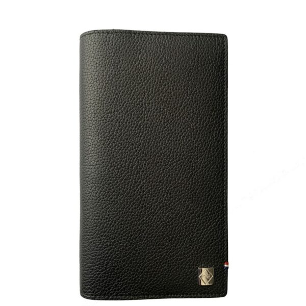 The wallet is made of genuine Angus leather.