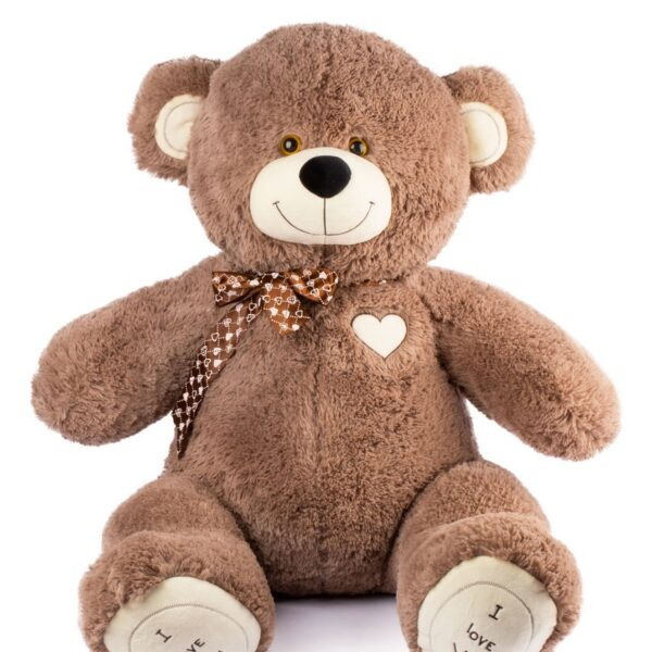 The bears are made of 100% anti-allergenic padding polyester, which makes them very soft and lightweight.